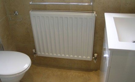 New radiator and en-suite accessories